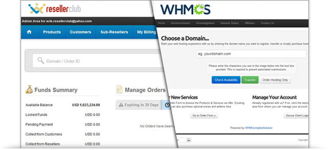 Official ResellerClub WHMCS Module