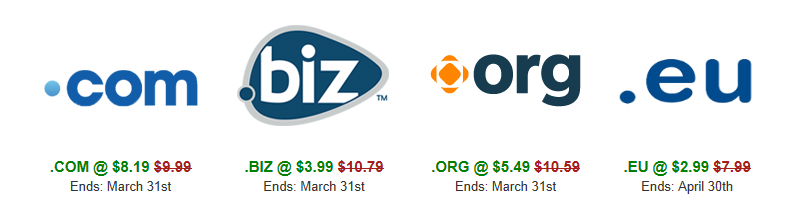 Domain Promos in March!
