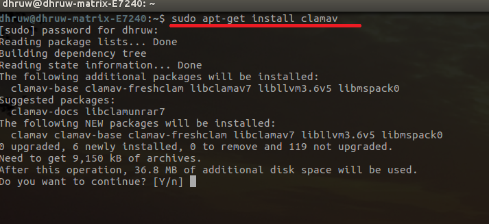 install clamav on PC