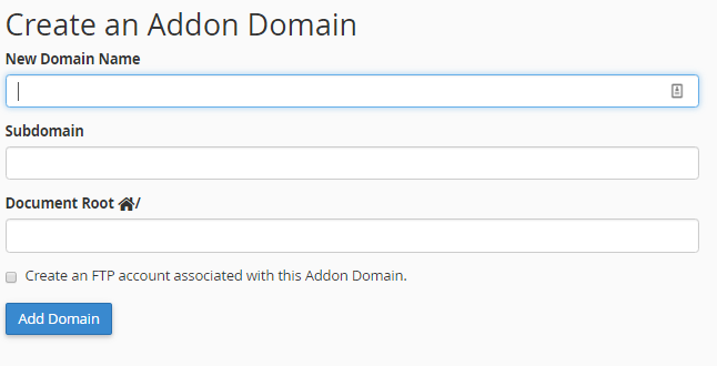 how to add domain to cpanel