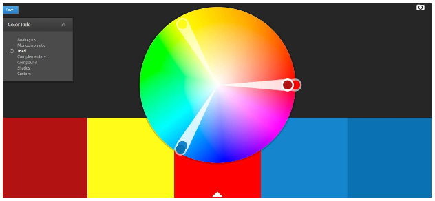 Here Is An Example Of A Triadic Color Scheme Using Adobes Wheel Tool Great Way To Discover Colors For Your Website