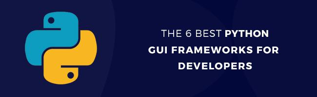 best python gui framework