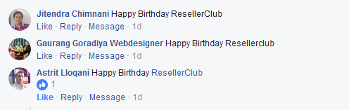 ve probably already seen the Facebook live video of our cake cutting  Big Birthday Bash Celebrations – ResellerClub's 12th Anniversary!