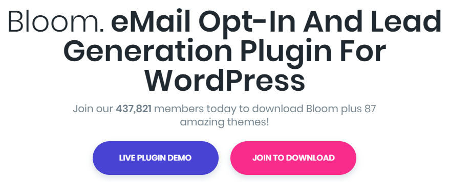 bloom wordpress subscription plugin
