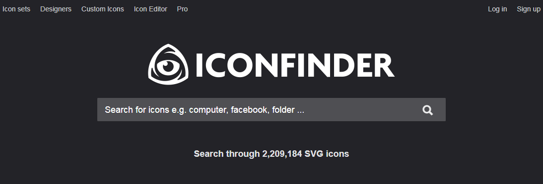 iconfinder website design tool