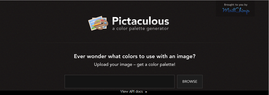 Pictaculous website design tool