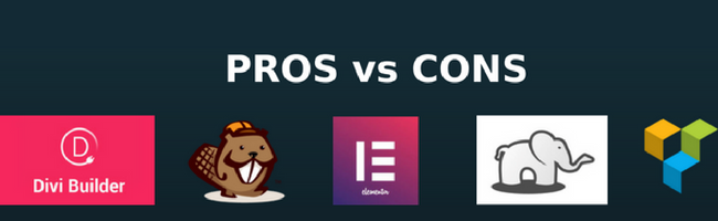 Pros and Cons of Top WordPress Website Builders